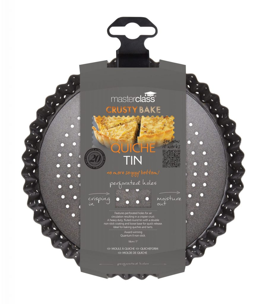Master Class Crusty Bake Non-Stick Loose Base Fluted Tart Tin//Quiche Pan 18 c...